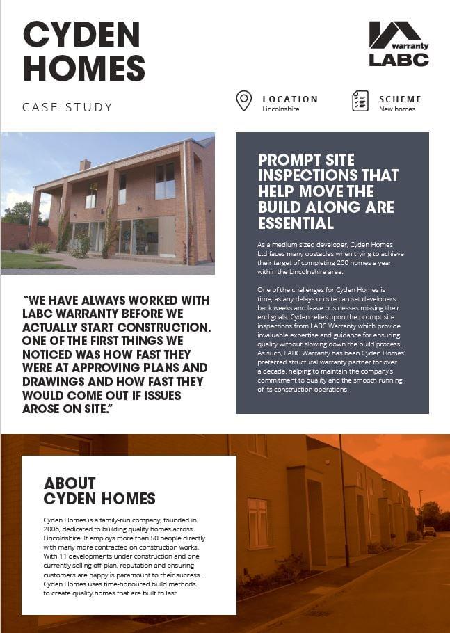 Cyden Homes Cover