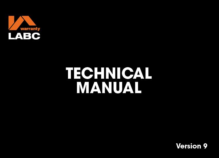 Technical Manual - LABC Warranty