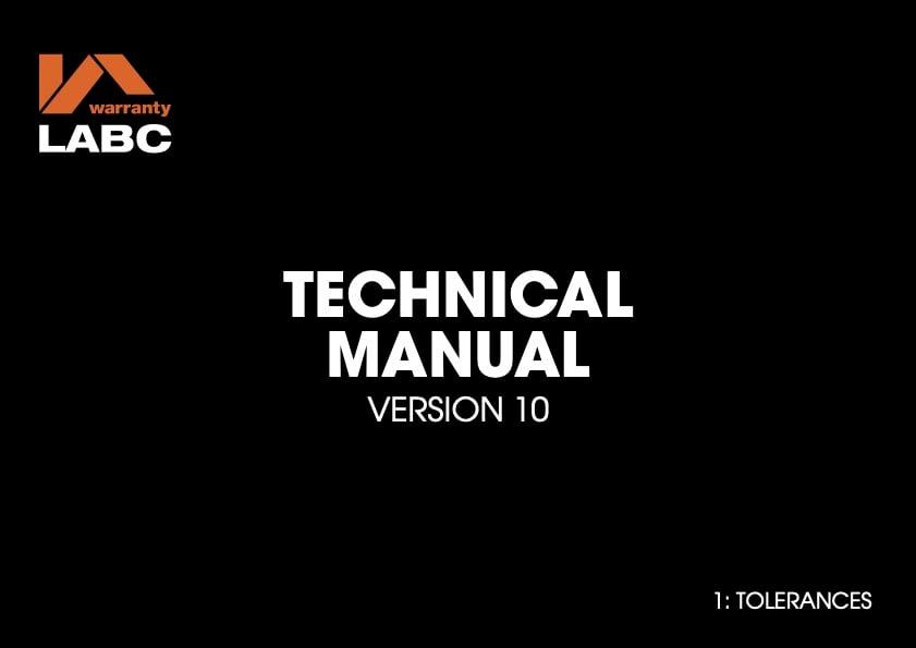 TM covers V10 - 1 Tolerances