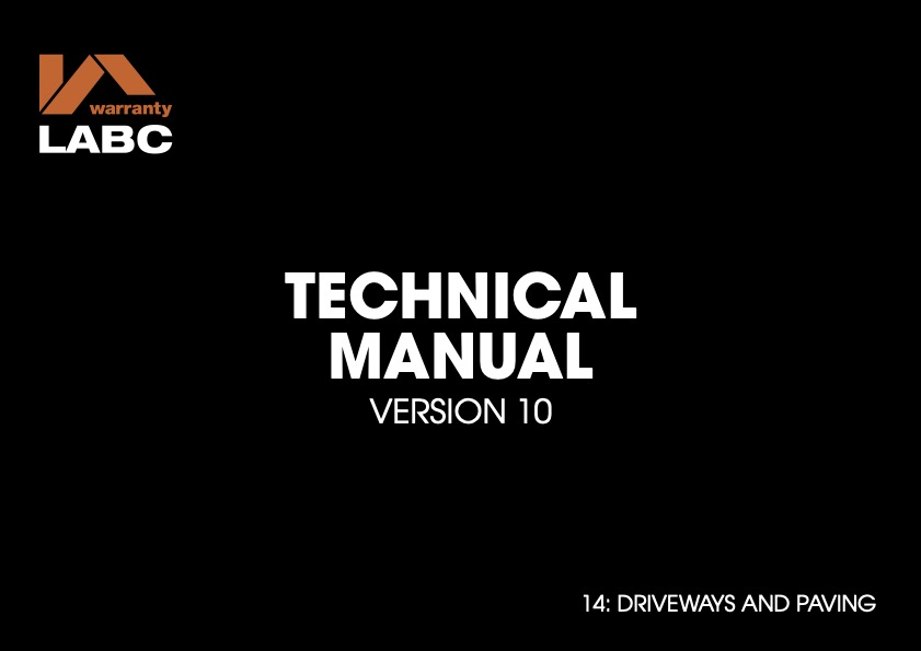 TM covers V10 - 14 Drivways and Paving