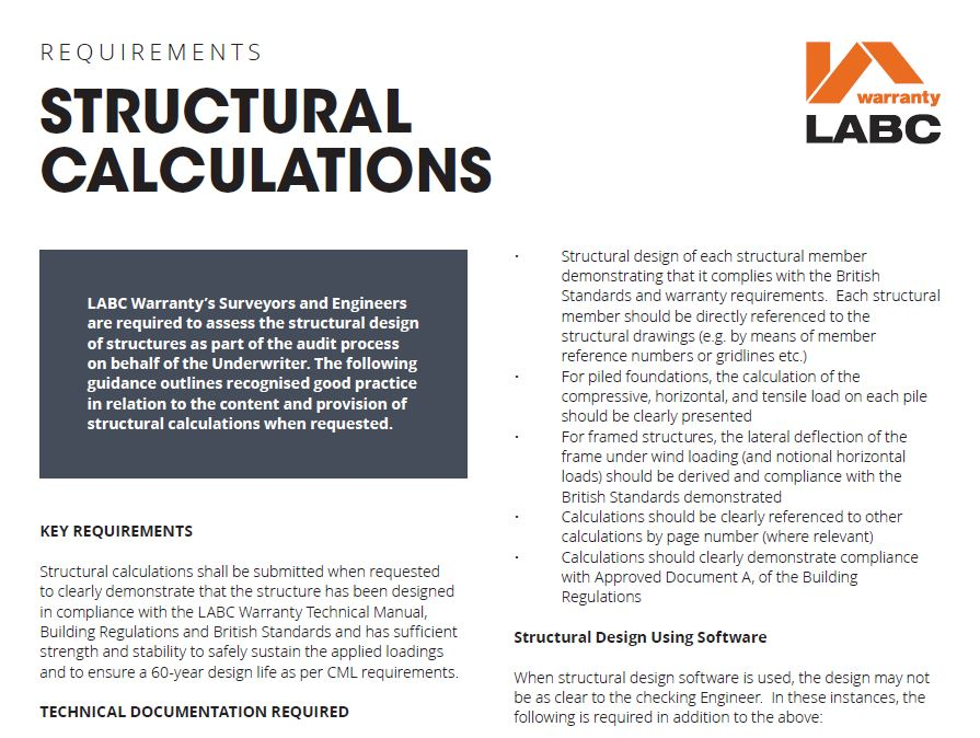 Structural Calculations Guide